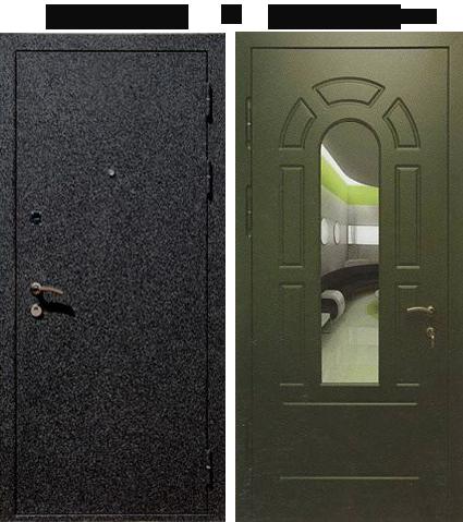 металлическая дверь крокодил с зеркалом