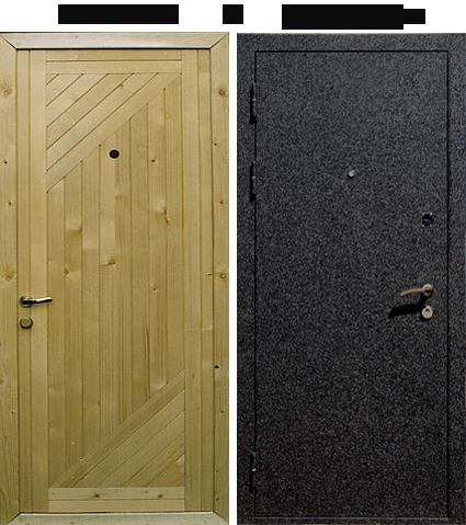железная дверь с крокодиловой кожи