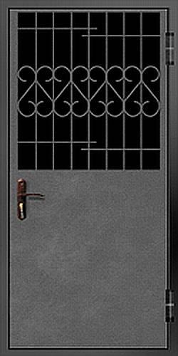 тамбурные стальные двери с решеткой